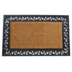 Renaissance Brush Scroll Door Mat (1'10 x 3')