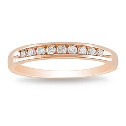 Miadora 10k Pink Gold 1/4ct TDW Diamond Ring (G-H, I2-I3)