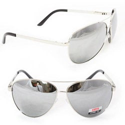 Unisex 5007 Silver Aviator Sunglasses
