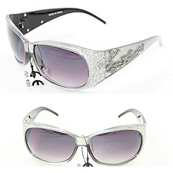 Women's P2089 Silver Round Sunglasses