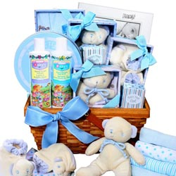 Boy's Large Baby Gift Basket