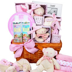 Girl's Large Baby Basket