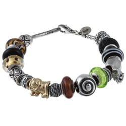 Signature Moments Sterling Silver Safari Theme Bracelet