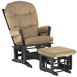 Dutailier Ultramotion Hardwood Glider and Ottoman