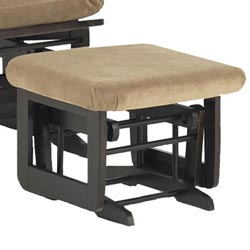 Dutailier Ultramotion Modern Light Brown Microfiber Glider Ottoman