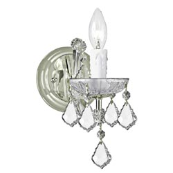 Maria Theresa 1-light Chrome Wall Sconce
