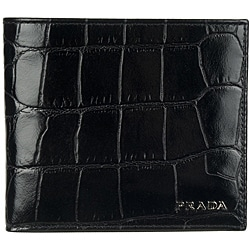 Prada 2M0513 Leather Bi-fold Wallet