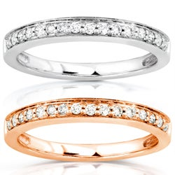 14k White or Rose Gold 1/6ct TDW Diamond Wedding Band (H-I, I1-I2)