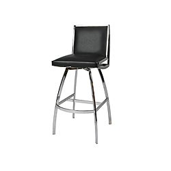 Belado Metal Chrome Swivel Bar Stool