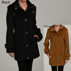 Donnybrook Women's Single Breasted Snap Button Coat