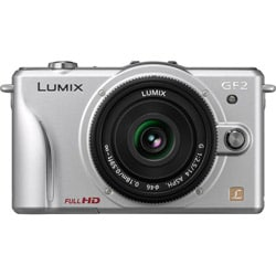 Panasonic Lumix DMC-GF2 12.1MP 3D Silver Mirrorless Digital SLR Camera