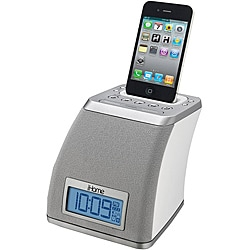 iHome White iP21 App-Enhanced Spacesaver Alarm Clock with AM/FM Tuner and iPod/iPhone Dock