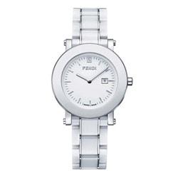 Fendi Women's Round White Dial Ceramic Watch