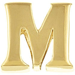 Signature Moments 14k Gold over Silver 'M' Alphabet Bead