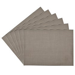 Longport Woven Vinyl Nickel Placemats (Set of 6)