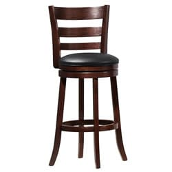 ETHAN HOME Verona Espresso Ladder Back Swivel 29-inch Barstool