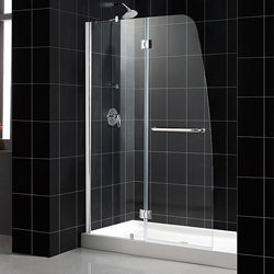 DreamLine Aqua 48x72-inch Clear Glass and Brushed Nickel Shower Door