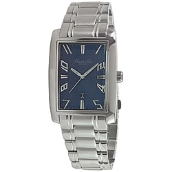 Kenneth Cole Men's Stainless Steel Bracelet Blue Dial Watch