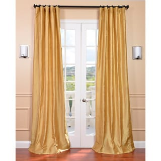 Signature Sunrise Gold Textured Silk Curtain Panel
