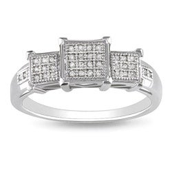 10k White Gold 1/10ct TDW Diamond Fashion Ring (G-H, I2-I3)