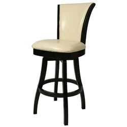 Glenwood 26-inch Wood Cream Leather Swivel Counter Stool
