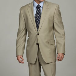 Nautica Men's 2-button Tan Wool Suit