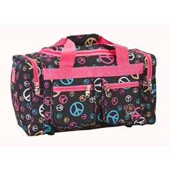 Rockland Bel-Air 19-inch Peace Sign Carry On Duffel Bag