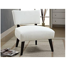 Cream Bicast Leather Lounge Accent Chair