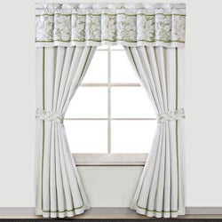 Brisbane White Cotton 84-inch Curtain Panel Pair