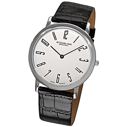 Stuhrling Original Men&#39;s White &#39;Belmont&#39; Ultra Slim Watch