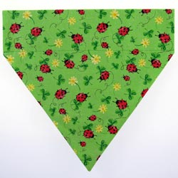 Ruff Stuff USA Green Ladybugs Dog Collar Bandana