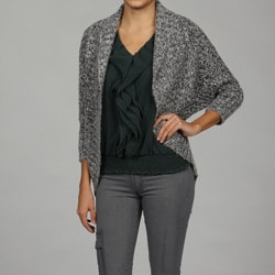Razzle Dazzle Women's Open Bolero Weave Cardigan Sweater