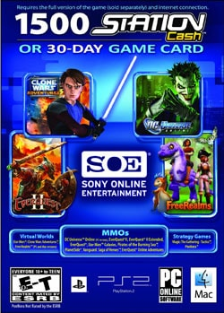 PC - Soe Universal Game Card (1500 Station Cash Or 30 Day Game Card)