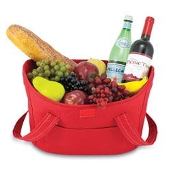 Insulated Mercado Red Double-lid Cooler Basket