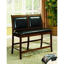 Furniture of America Judith 2-Seat Leatherette Pub Style Dining Chair