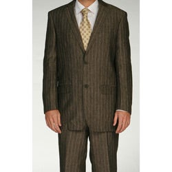 Ferrecci Men's Grey Linen Two-button Suit