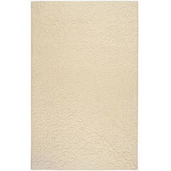 Candice Olson Loomed Ivory Floral Plush Wool Rug (9' x 13')