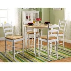 Round Counter Height 5-pc Chair and Table Set