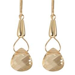 Gold Fill 14k Crystal 'Teardrops of Hecate' Earrings