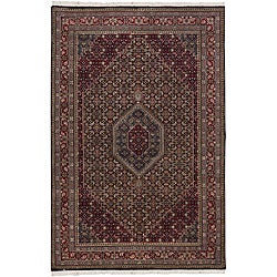 Hand-knotted Mandara Burgundy New Zealand Wool Rug (8'9 x 11'3)