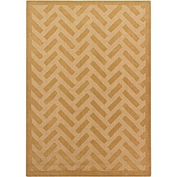Hand-Tufted Mandara New Zealand Wool Geometric Rug (7' x 10')