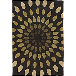 Hand-Tufted Mandara Abstract Pattern New Zealand Wool Rug (9' x 13')