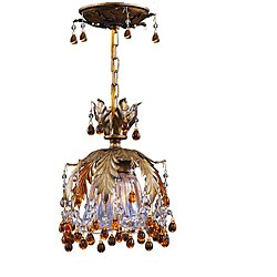 Melrose 1-light Gold Semi-flush Light
