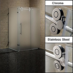 Vigo 36 x 48 Frameless 3/8-inch Frosted Right Shower Enclosure
