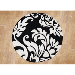 Hand-tufted White Wool Rug (6' Round)