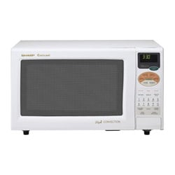 Sharp R820BW White 900-watt 0.9-cu-ft Convection Microwave