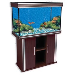 Nautilus Collection 75-gallon Walnut Aquarium and Stand