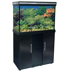 Delta Queen 29-gallon Black Aquarium and Stand