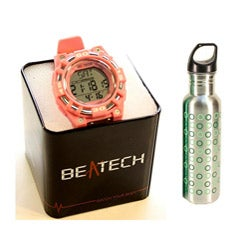 Beatech Pink Heart Rate Monitor Watch with 24-oz Water Bottle