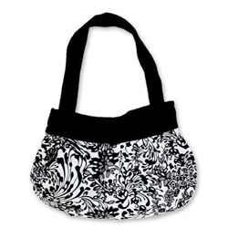 Cotton 'Winter's Memoirs' Large Batik Hobo Shoulder Bag (Indonesia)